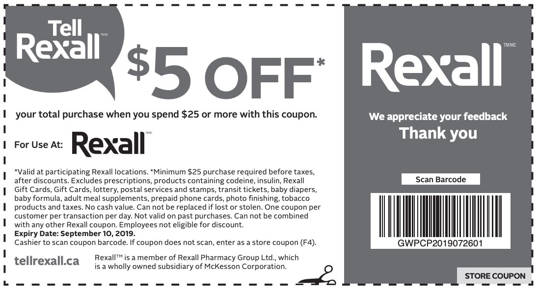 Rexall Pharma Plus Canada Coupon